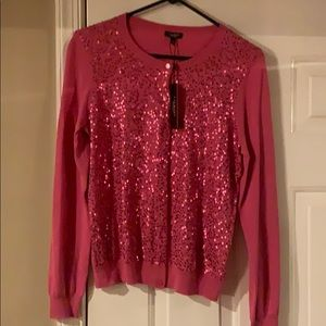 NWT Talbots sequined front cardigan sweater